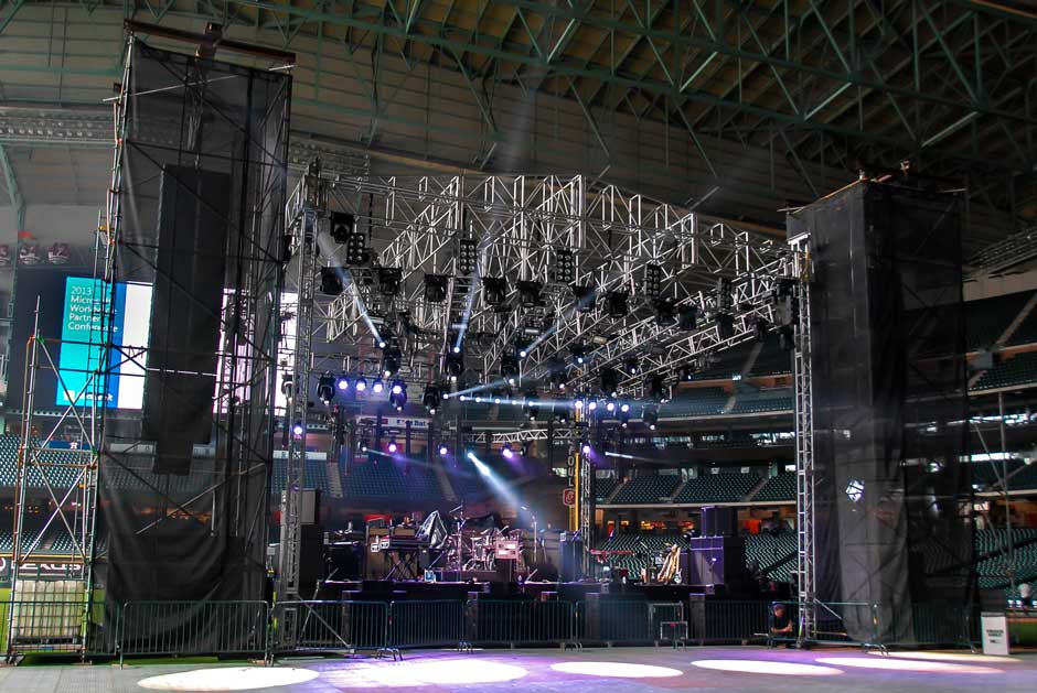 Microsoft Worldwide Partner Conference roof truss lighting rig