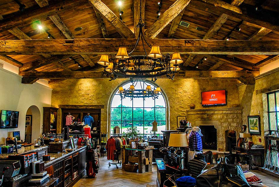 Houston Oaks Country Club clubhouse store audio video integration