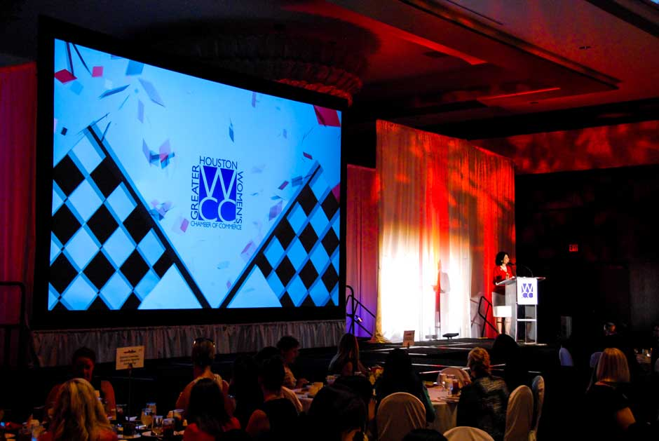 Greater Houston Womens Chamber of Commerce video projection screens