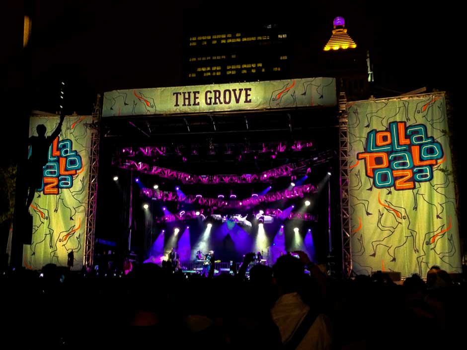 Lollapalooza The Grove Stage concert lighting system