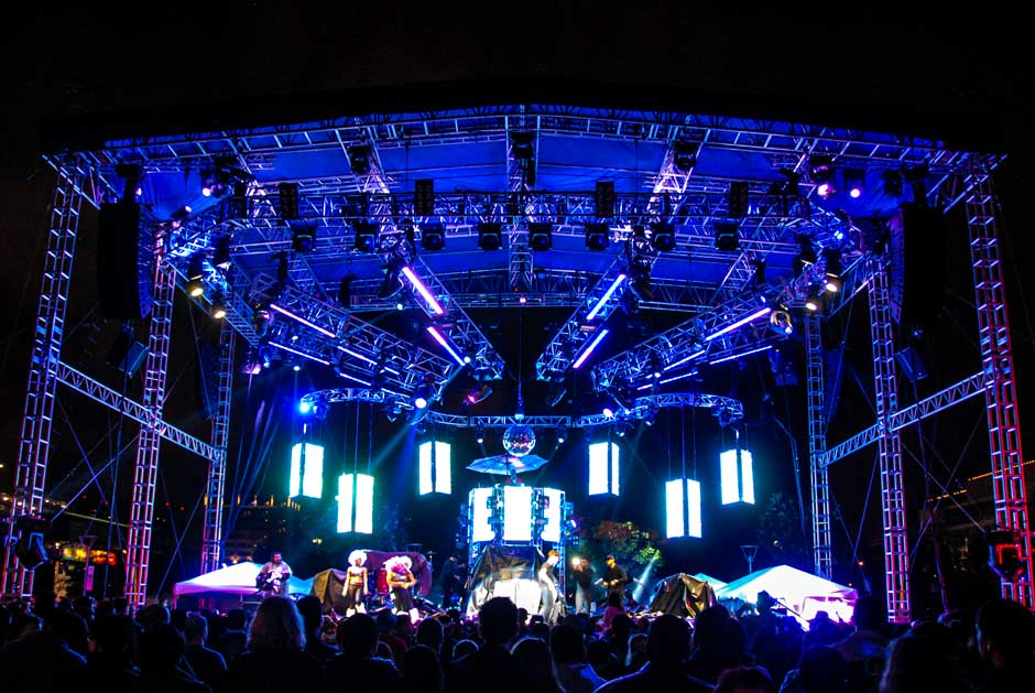 New Year's Eve Houston stage lighting and video modules