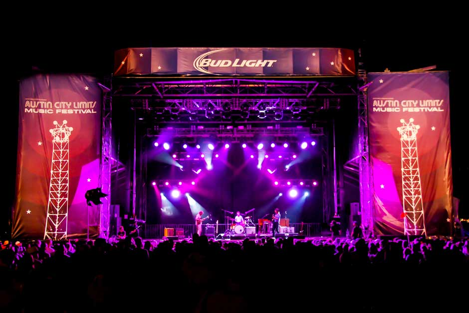Austin City Limits Music Festival concert lighting design