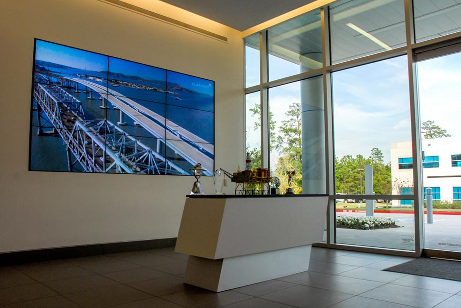 Clariant Corporate Office Lobby Digital Signage Video Wall display