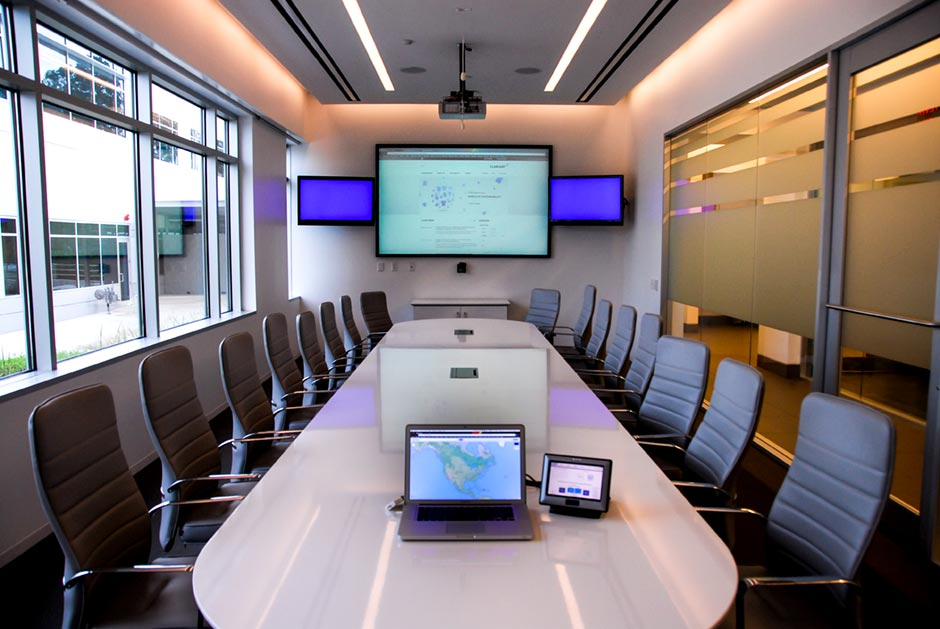 Clariant office meeting room audio and video conference system