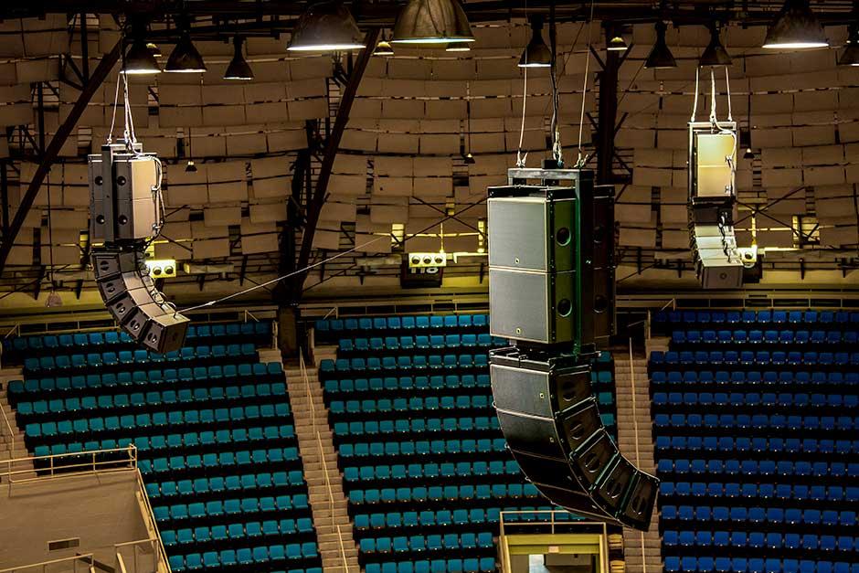 Freeman Coliseum L-Acoustics ARC FOCUS audio speaker line array