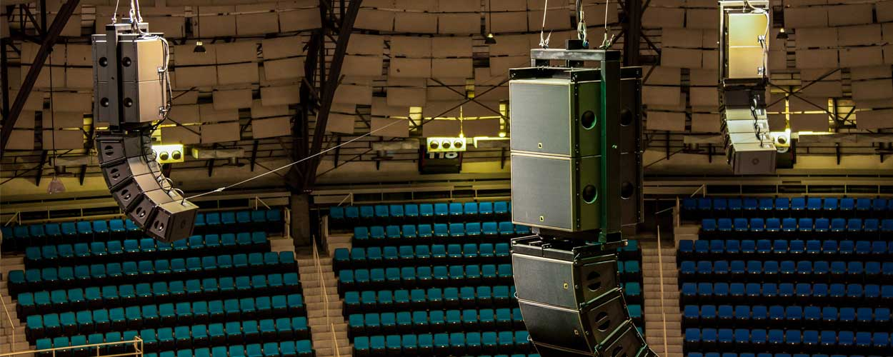 LD Systems Sound Systems Integration at Freeman Coliseum