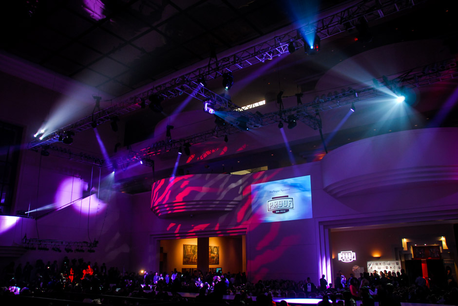 Fashion Houston lighting design and digital projection display