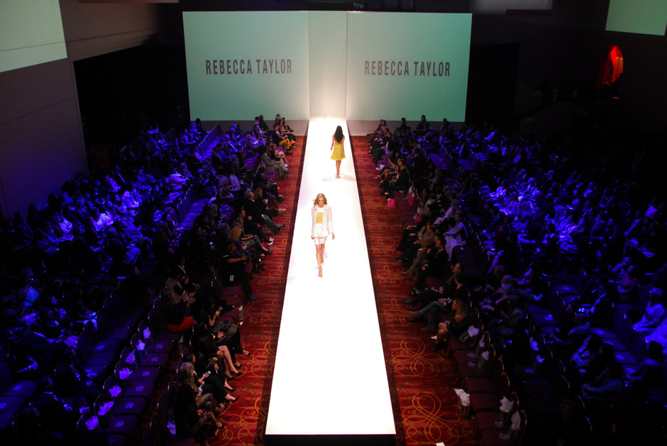 Fashion Houston runway show lighting and video backdrop