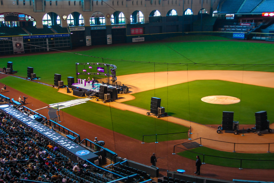 Advocare National sales conference on Minute Maid Park baseball field