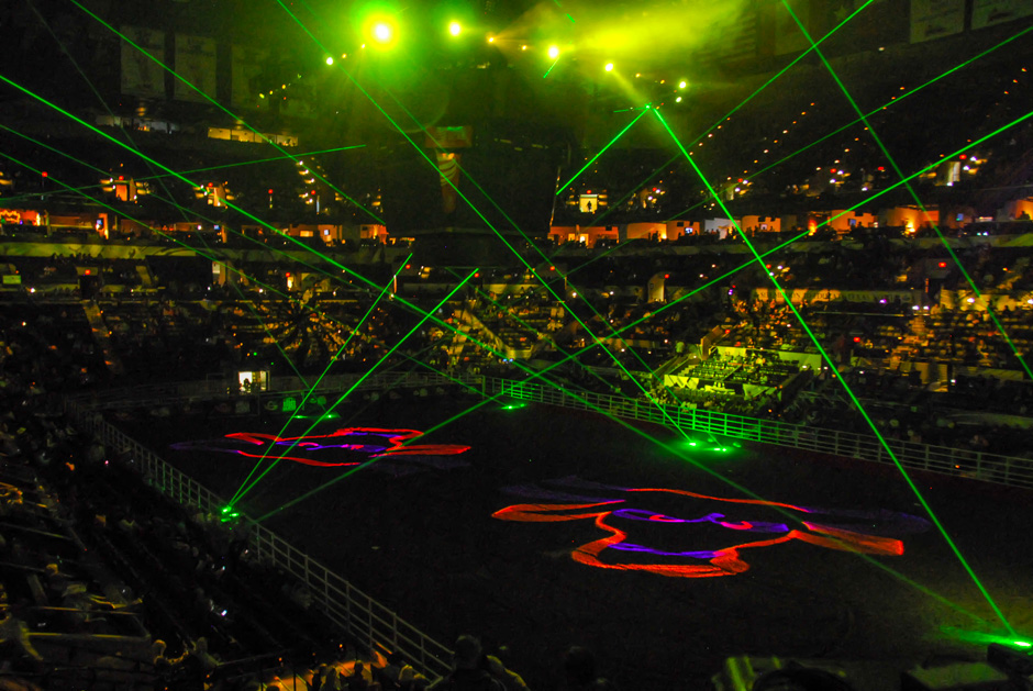 San Antonio Stock Show & Rodeo opening laser effects