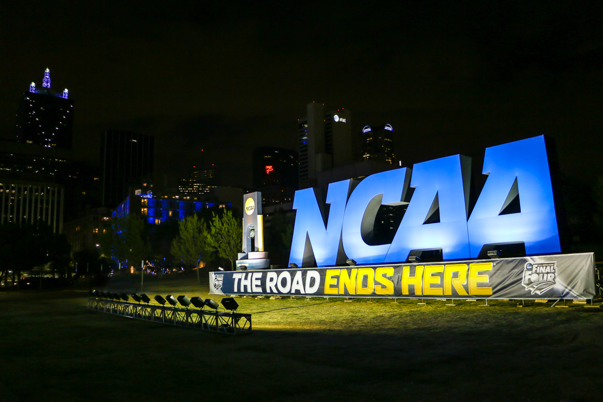 NCAA Final Four logo sign lighting