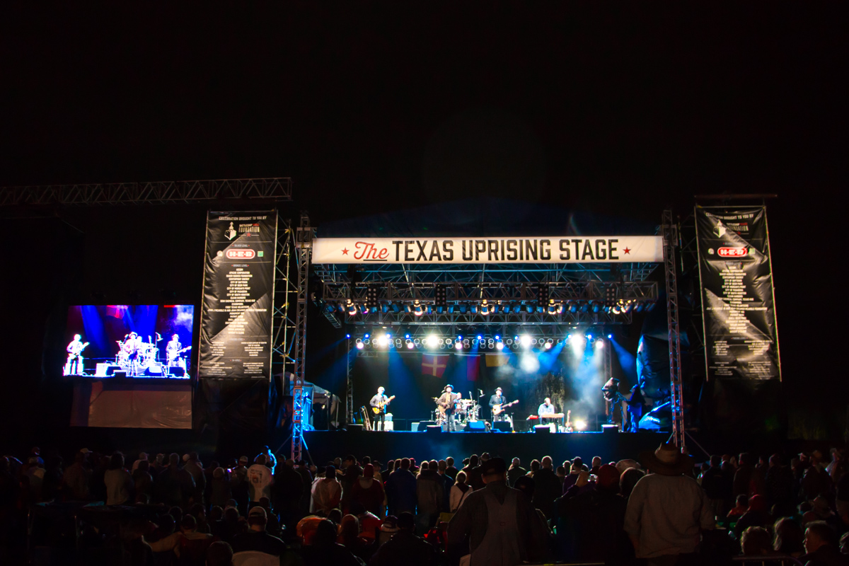 Battleship Texas Centennial Concert main stage Evening