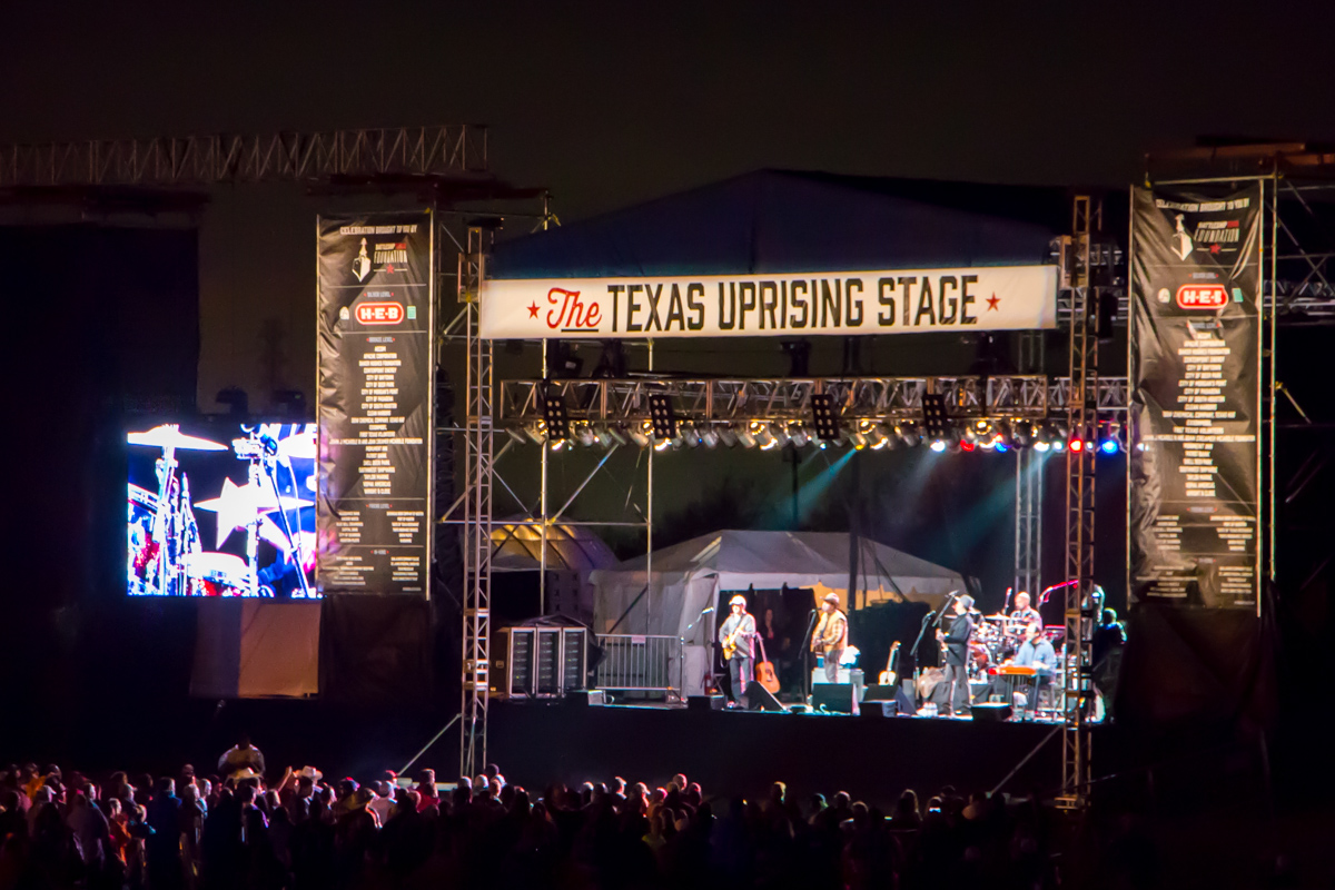 Battleship Texas Celebration live concert main stage lighting system