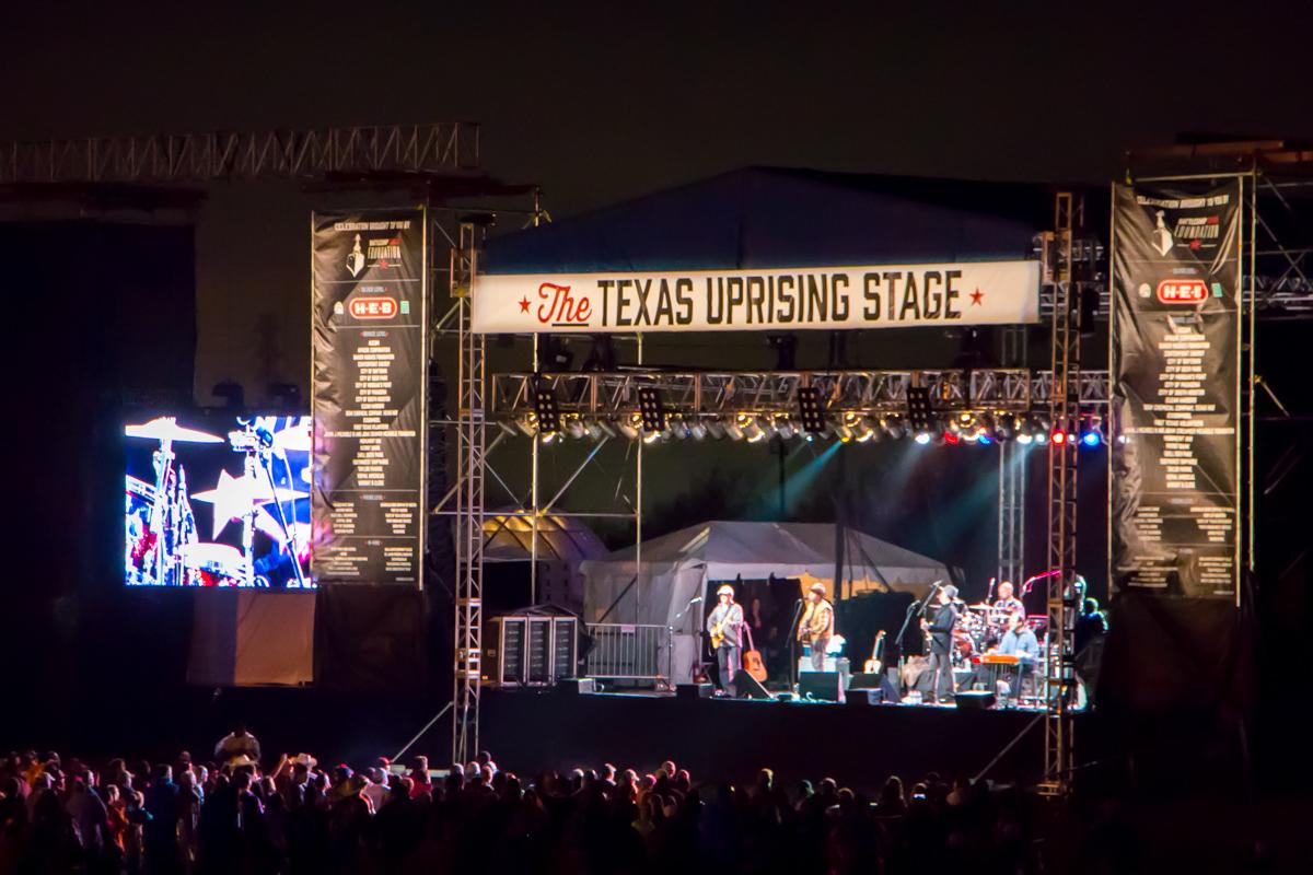 Battleship Texas Celebration live concert main stage lighting system