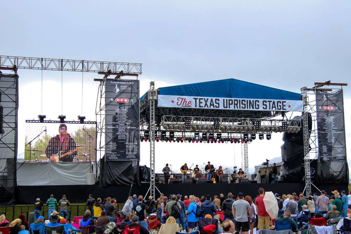 Battleship Texas Centennial Celebration Concert Stage