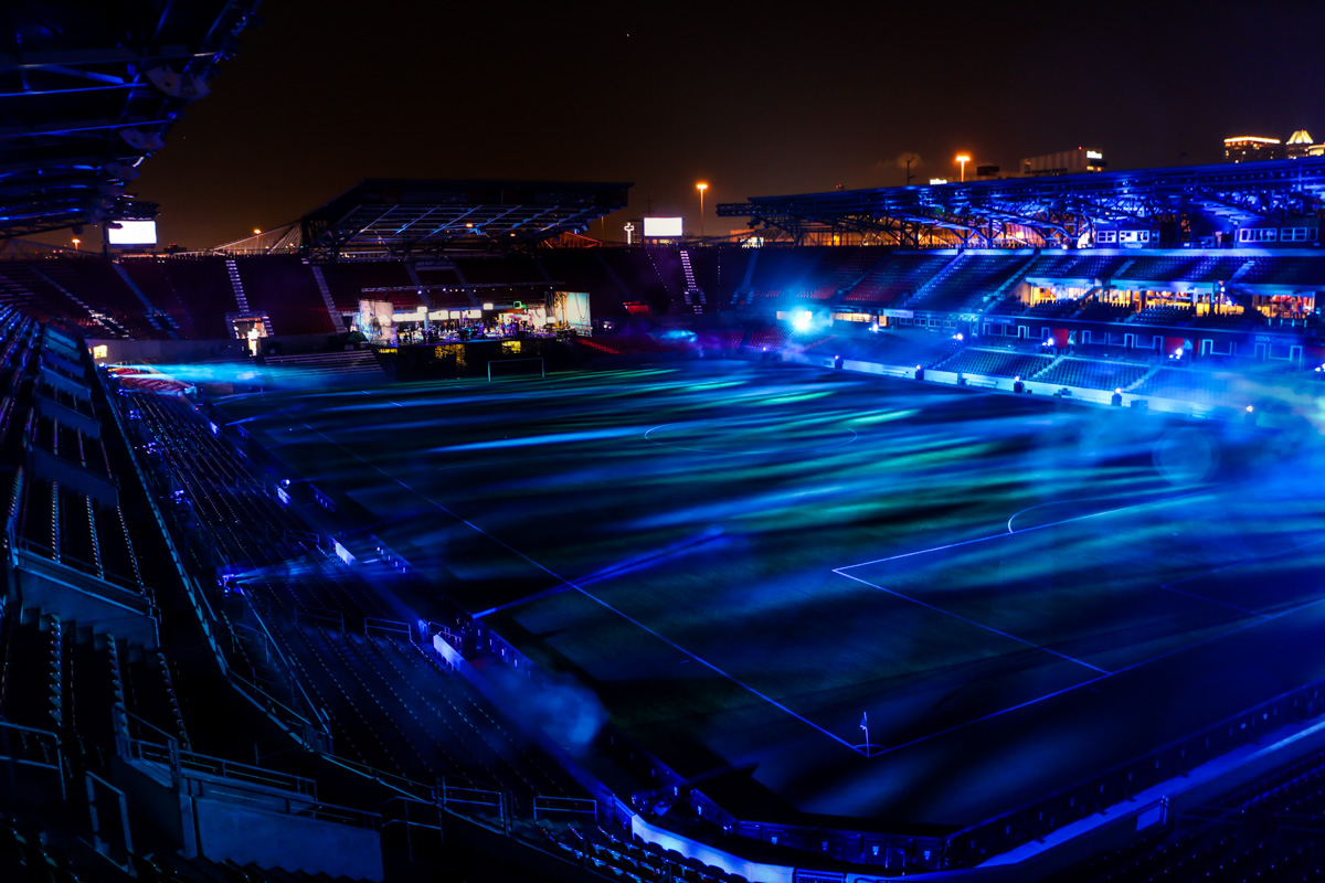 Statoil OTC Houston BBVA Stadium scenic outdoor lighting design
