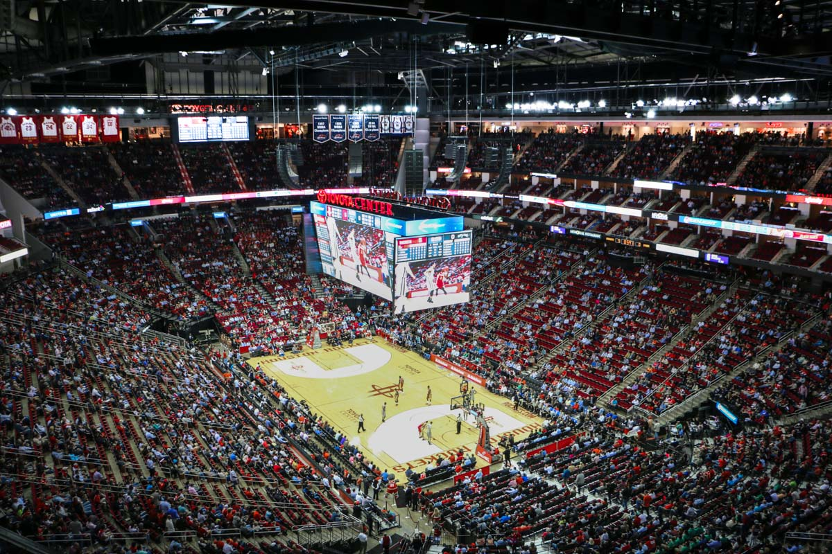 Toyota Center Game using L-Acoustics audio speaker arrays