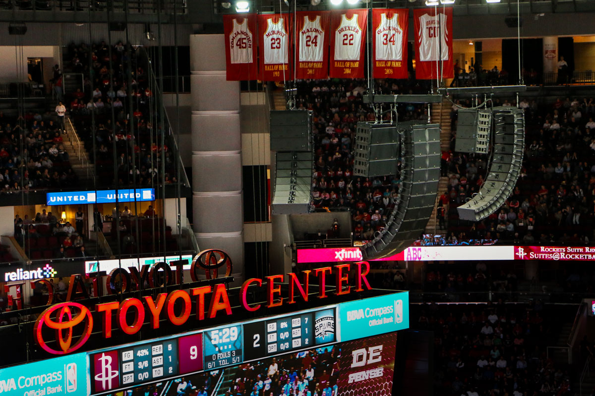Toyota Center Arena Flown L-Acoustics K2 Audio Speaker Line Arrays