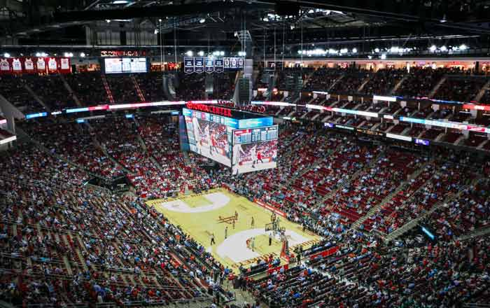 av systems installed at toyota center in houston