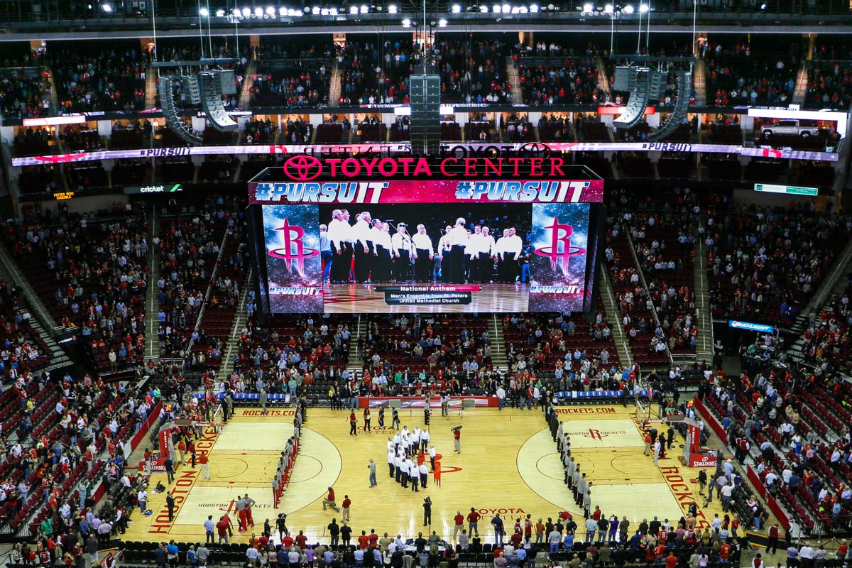 Toyota Center Arena L-Acoustics Public Address Audio and Video Scoreboard