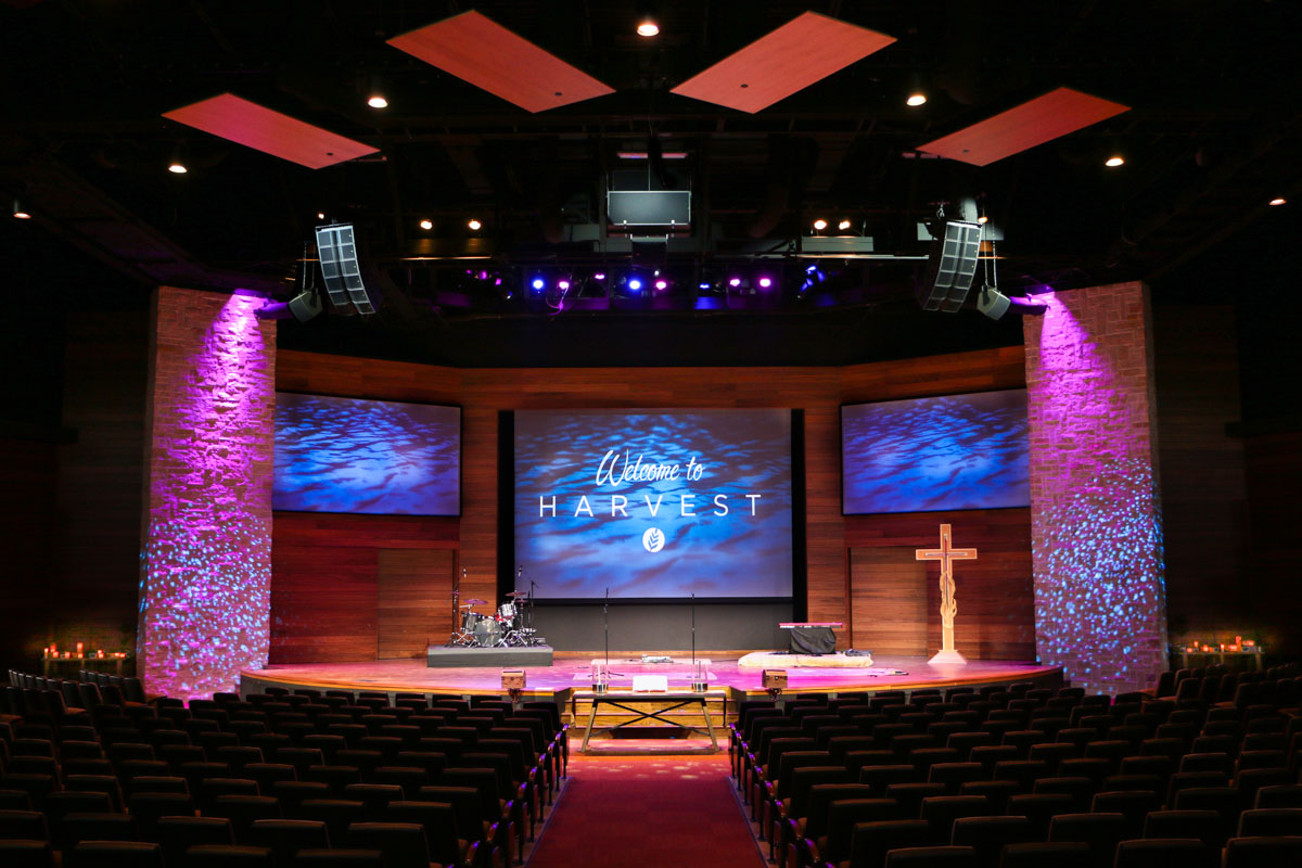 Woodlands United Methodist Church Harvest Worship Center Main Altar Sound and Lighting System