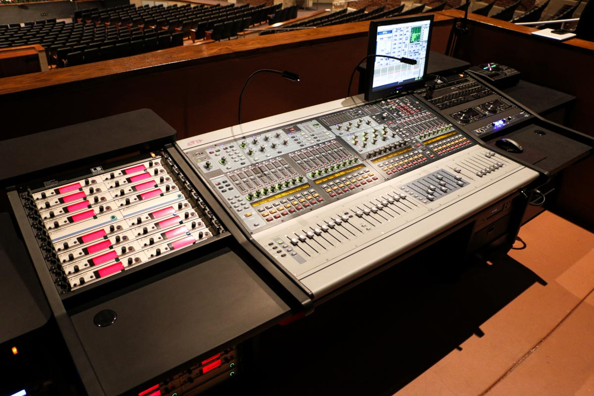 Deer Park High School Performing Arts Center AVID front of house audio console