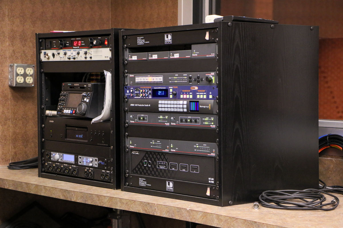Audio Visual Control Rack for Deer Park Auditorium