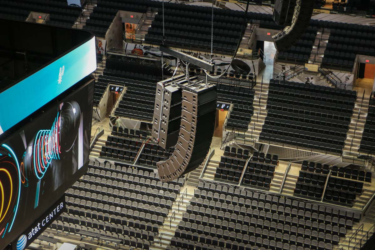 AT&T center arena audio L-Acoustics line array speaker