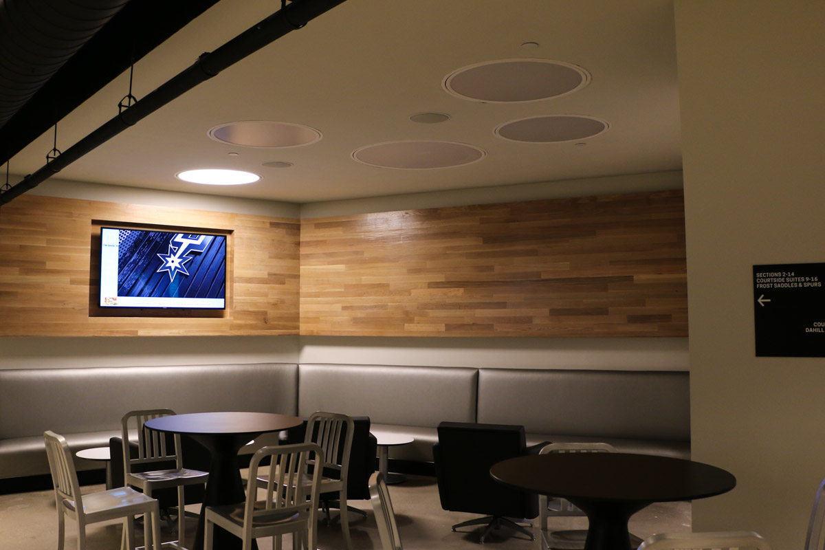AT&T Center concourse digital signage example