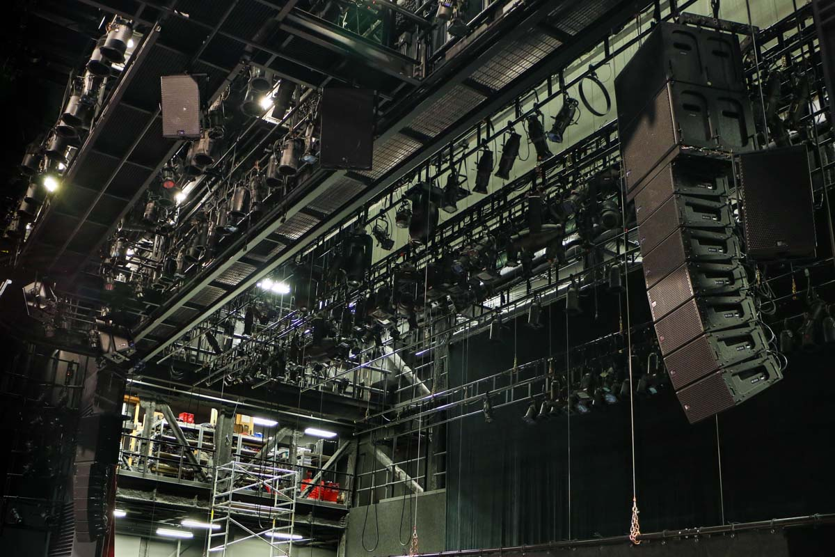 Alley Theatre audio Meyer Sound line array speakers