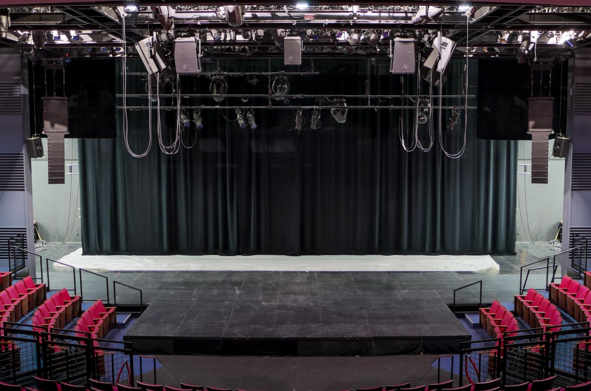Alley Theatre Hubbard Stage theatrical audio sound system