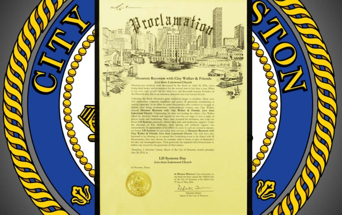 The City of Houston declares<br>May 20, 2016 as LD Systems Day