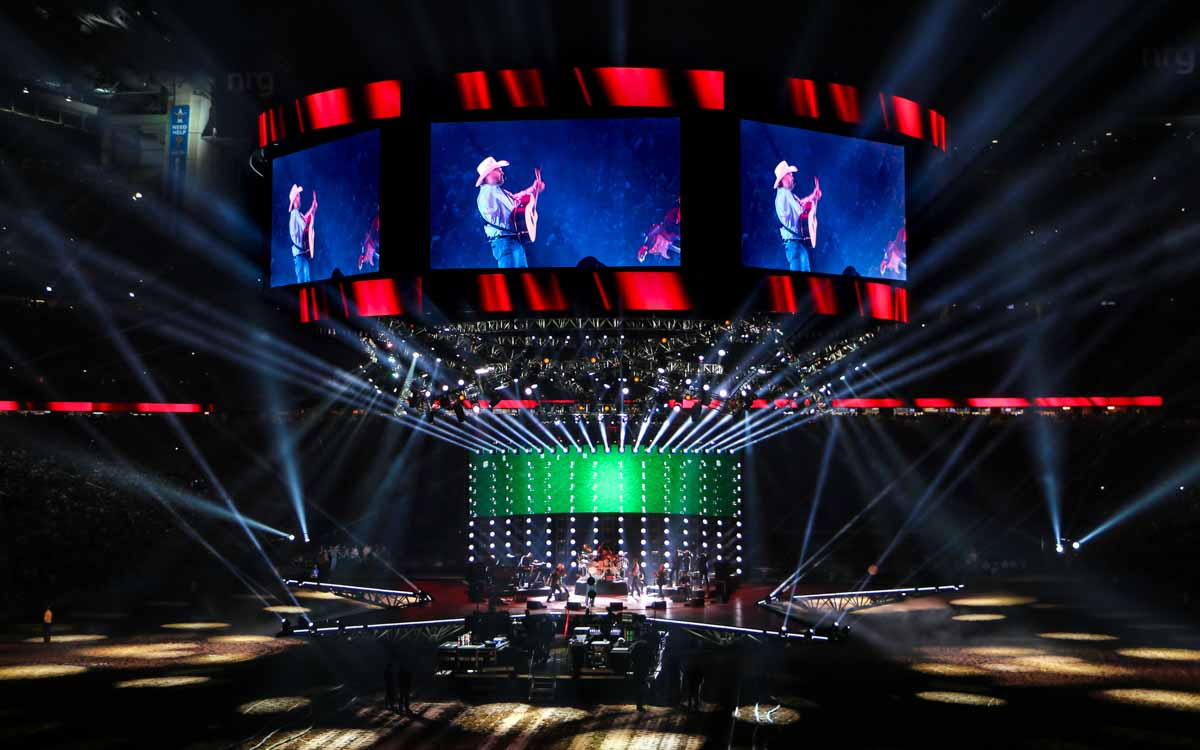 Houston Livestock Show and Rodeo concert stage lighting and LED video backdrop wall