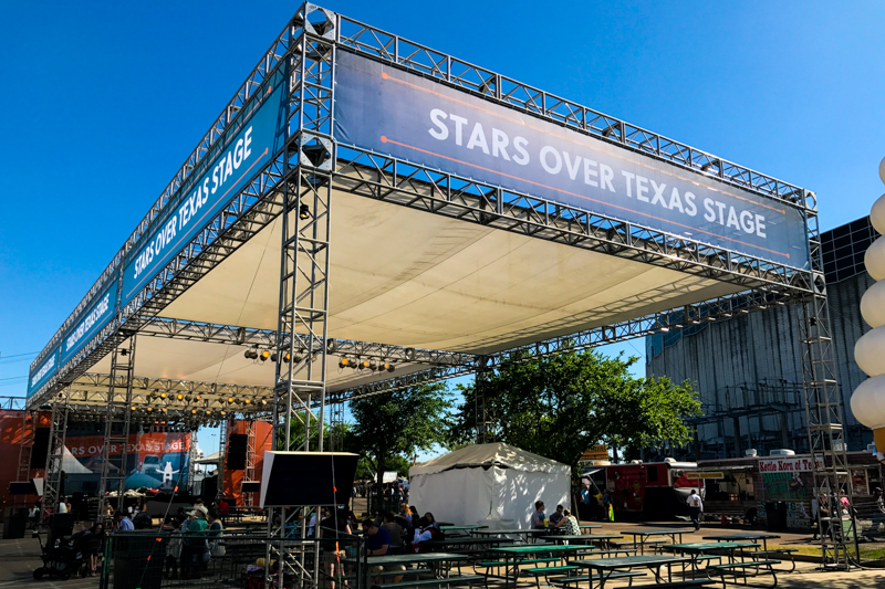 Houston Livestock Show and Rodeo Stars Over Texas Stage truss structure