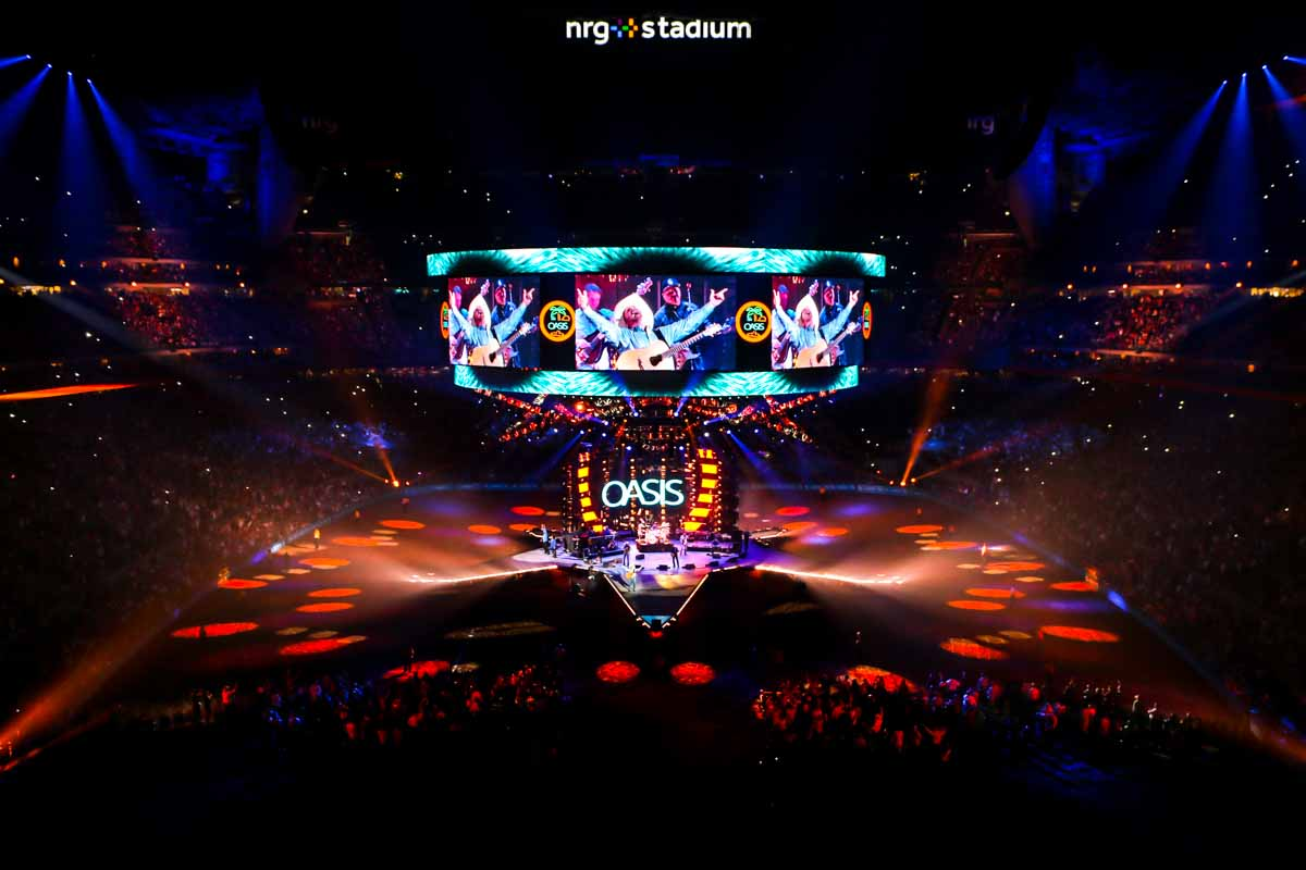 Houston Livestock Show and Rodeo concert NRG stadium lighting audio and video