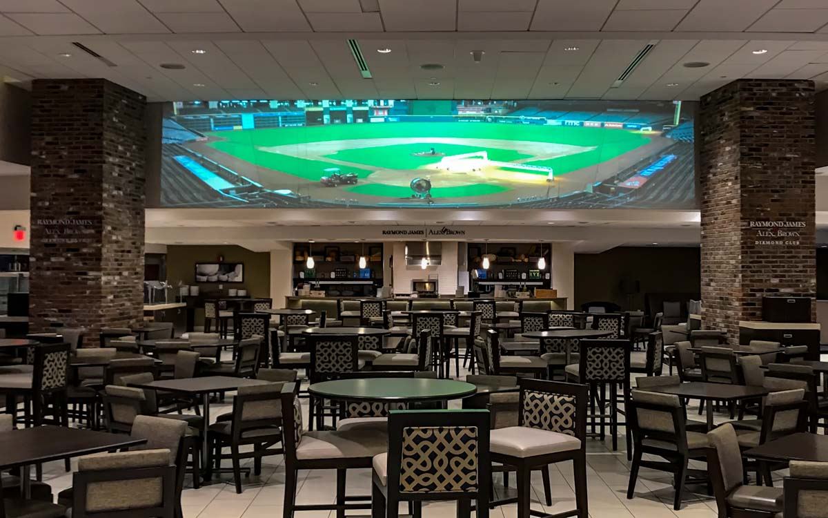 Minute Maid Park Diamond Club laser video projection system
