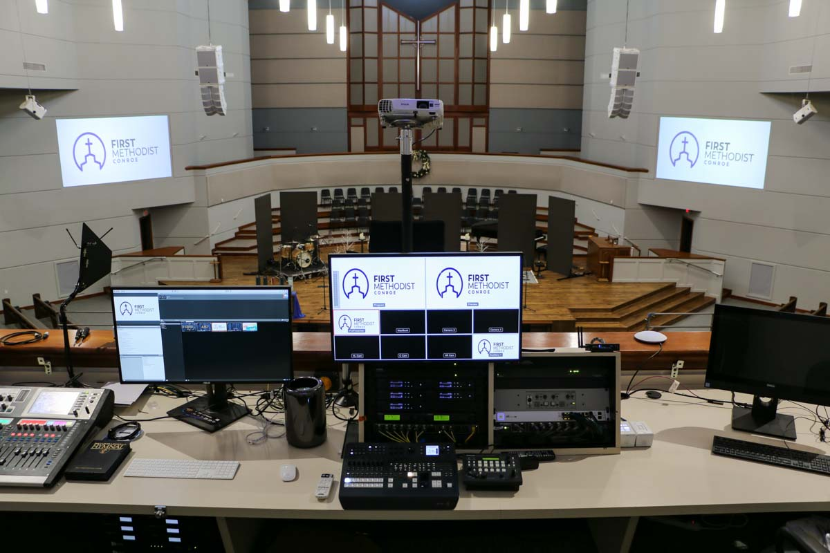 First Methodist Conroe main sanctuary front of house control system