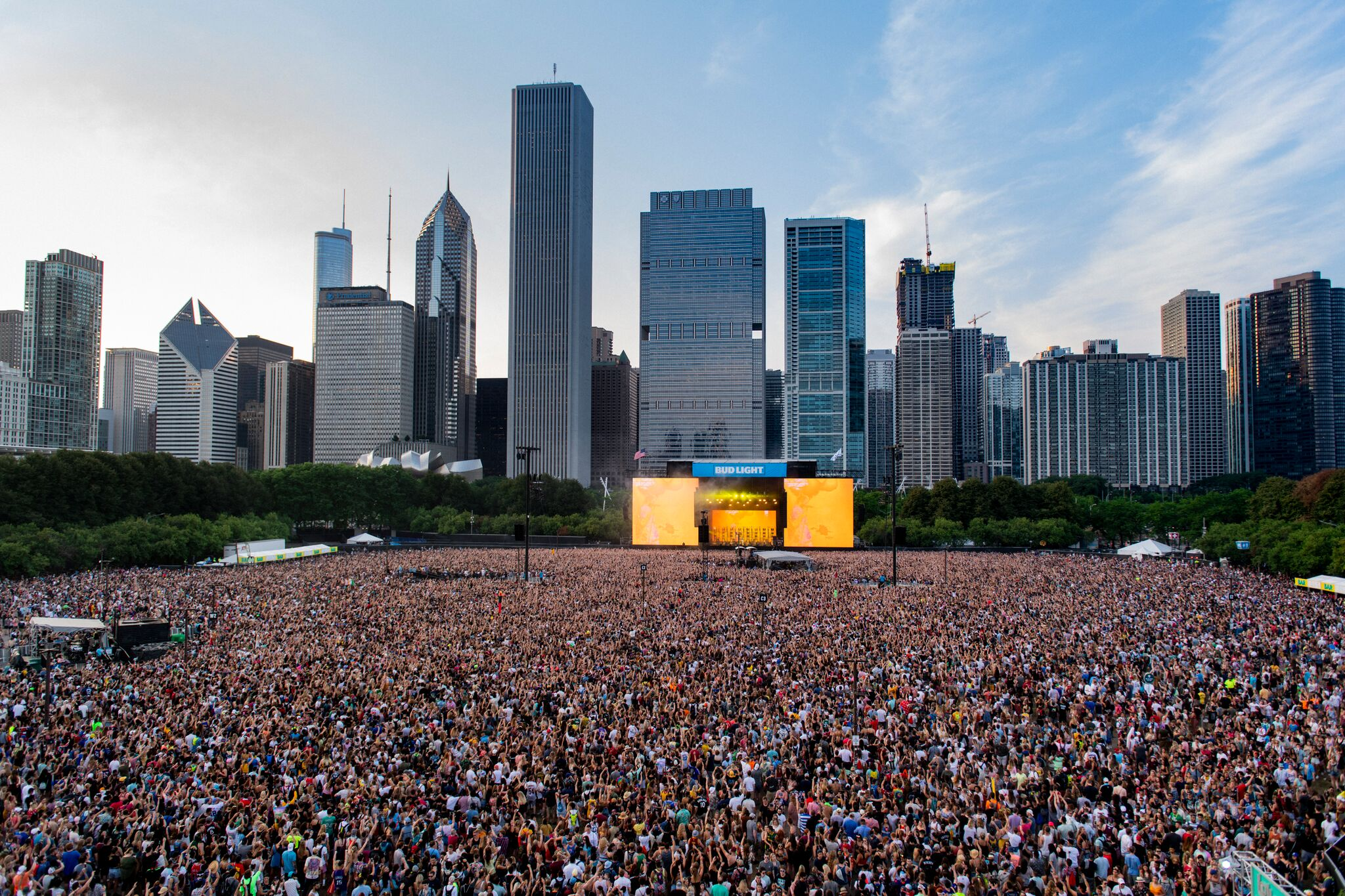 Lollapalooza Concert Stage concert large audience