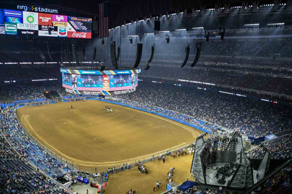 Houston Livestock Show and Rodeo main arena NRG Stadium AV production