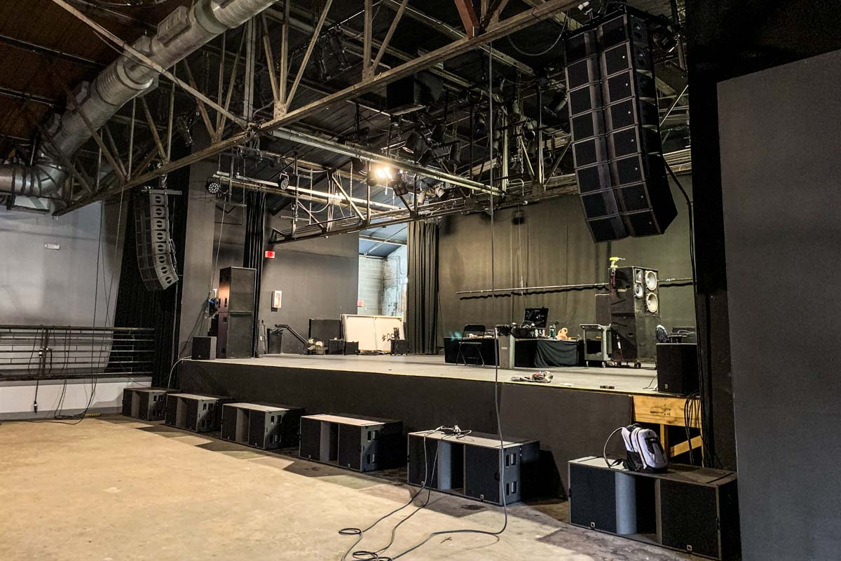 Warehouse Live main stage L-Acoustics concert sound system