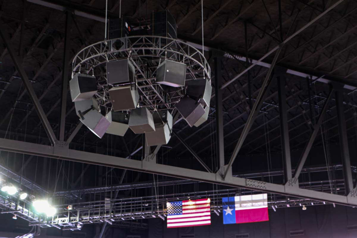 Fertitta Center ceiling audio speaker array
