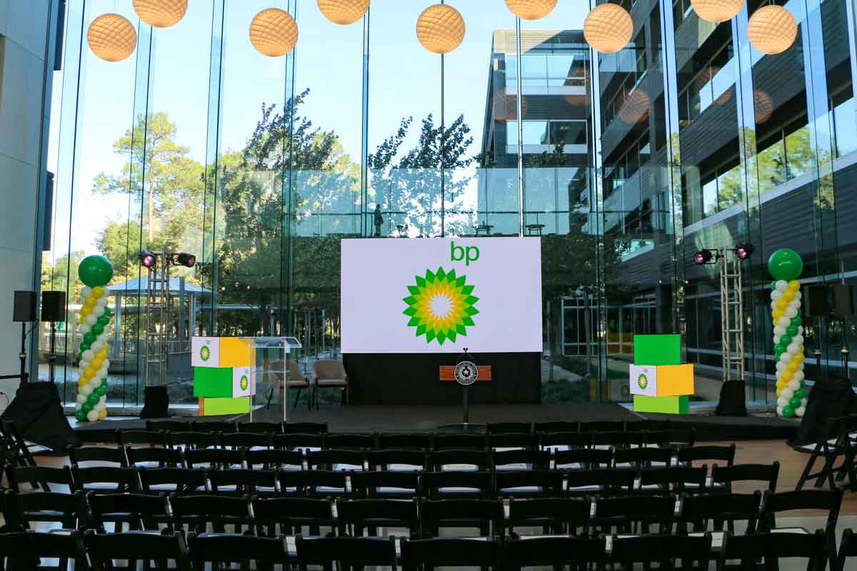 BP America Westlake One event stage equipment