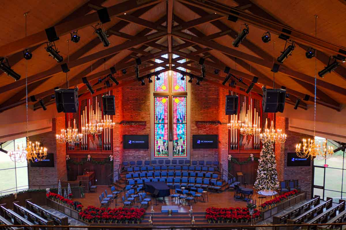 First Presbyterian Kingwood Main Sanctuary new AV equipment for renovation