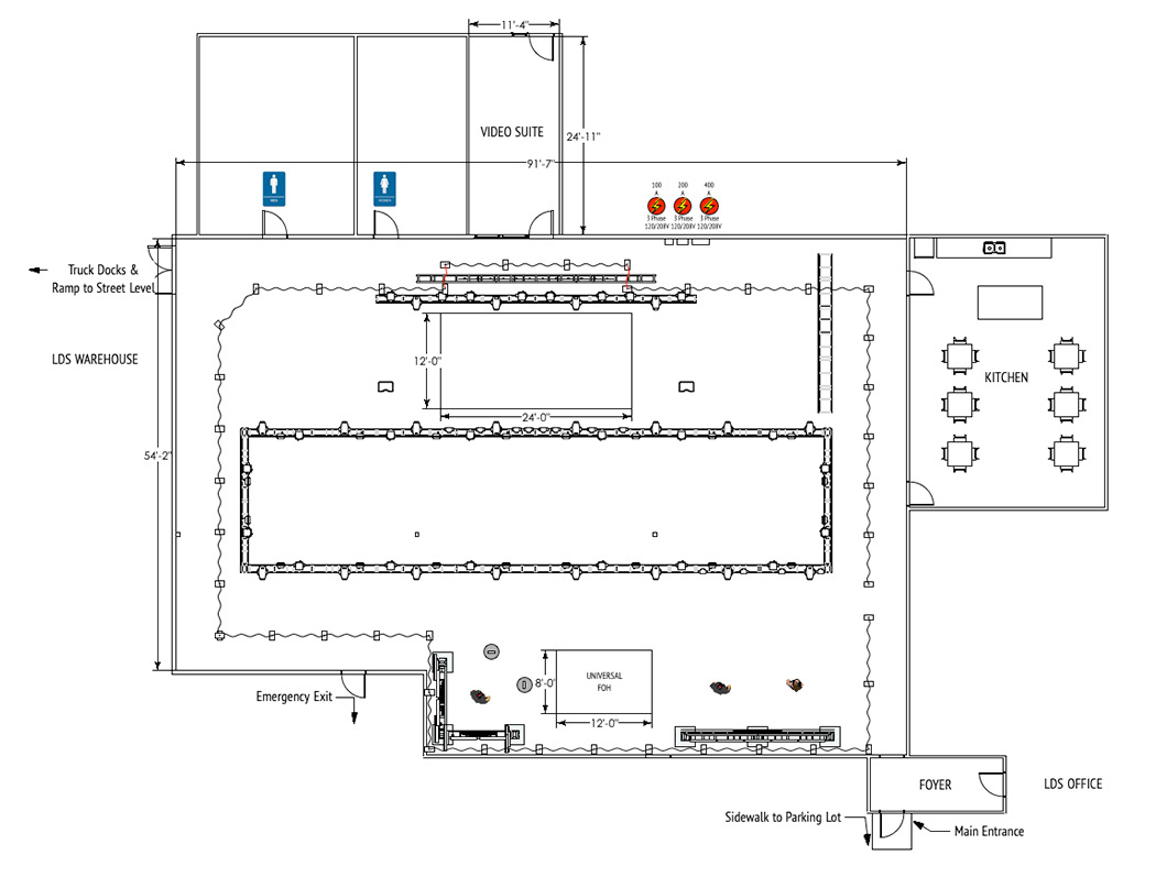 LD Systems Event Room Layout