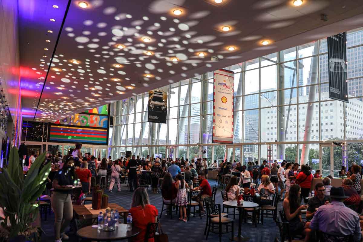Hobby Center lobby lighting design