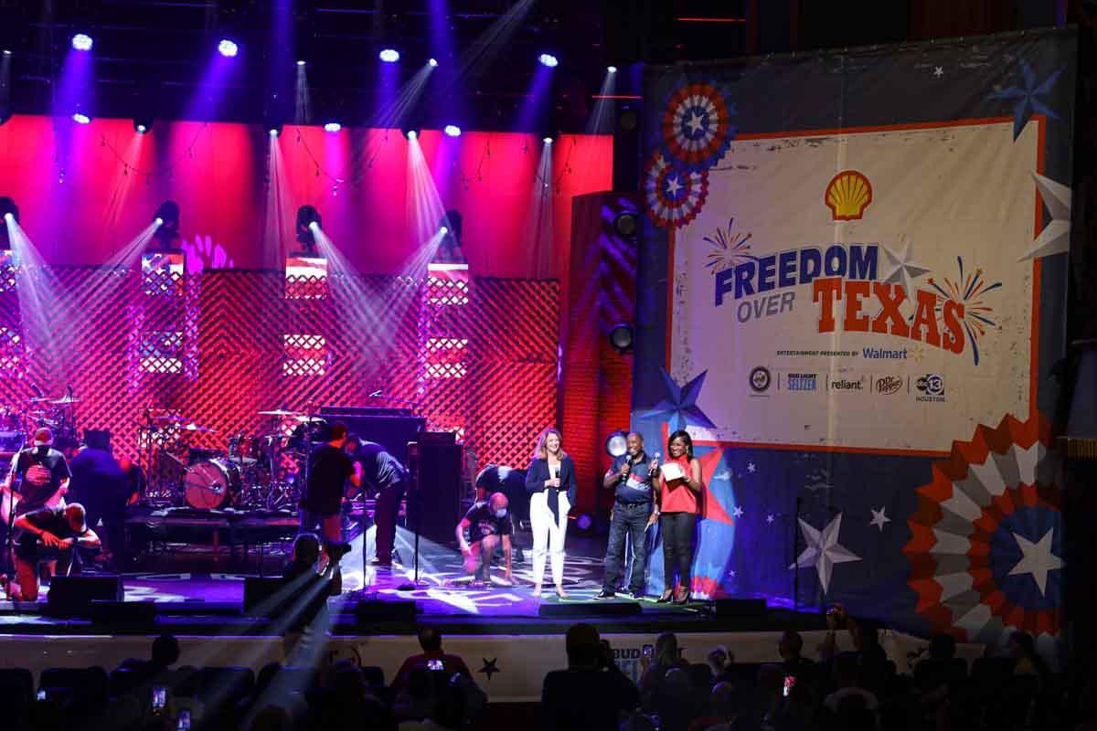 Freedom Over Texas Houston Mayor on stage