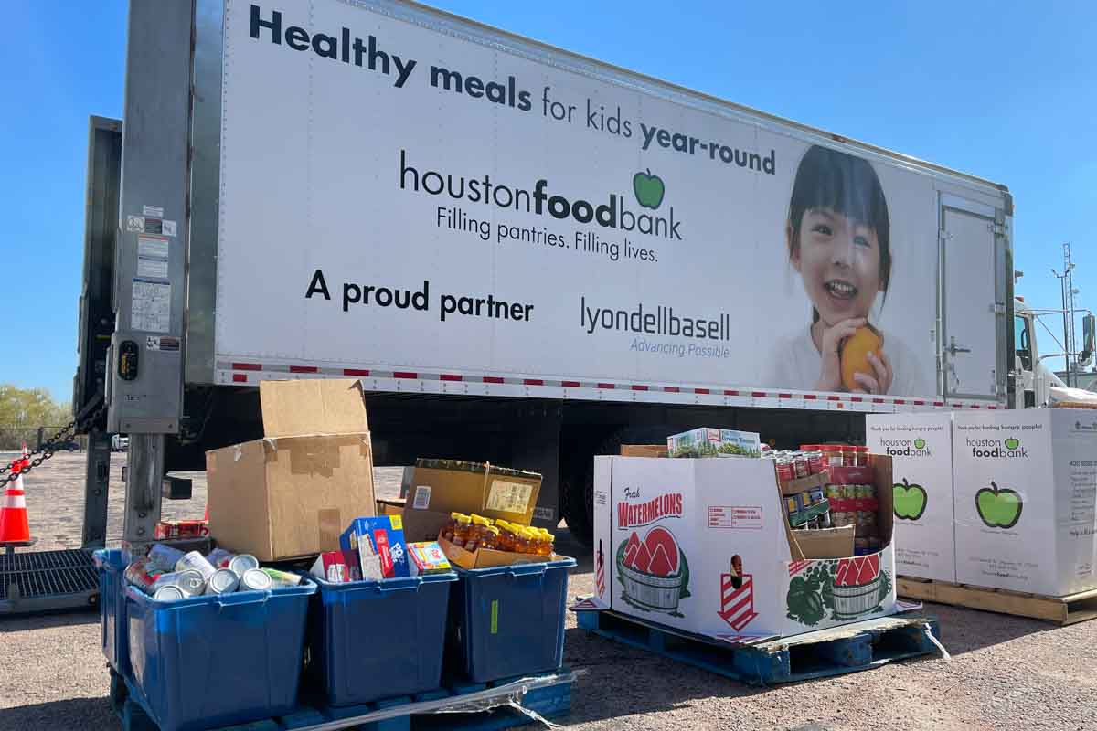 LD Systems Houston Food Bank Charity Food Donation