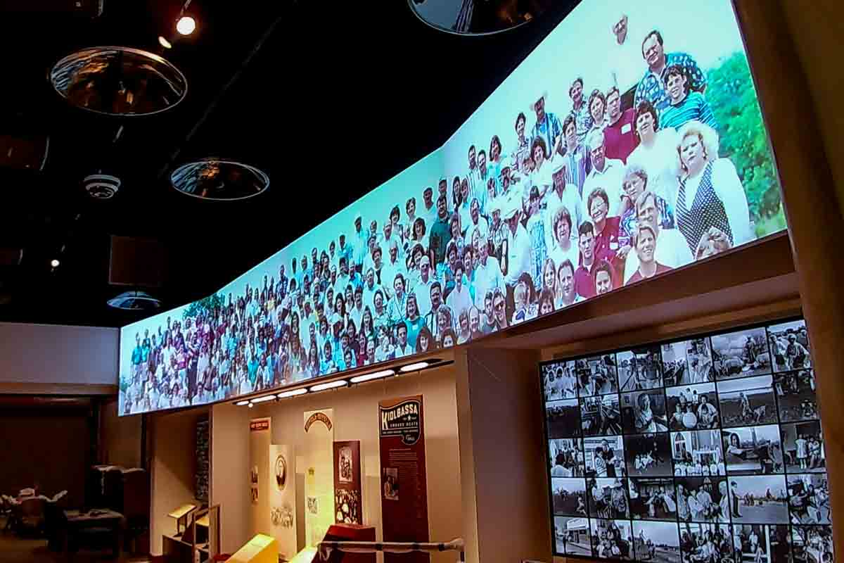 Large blended projection display