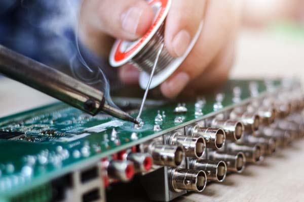 soldering audio motherboard
