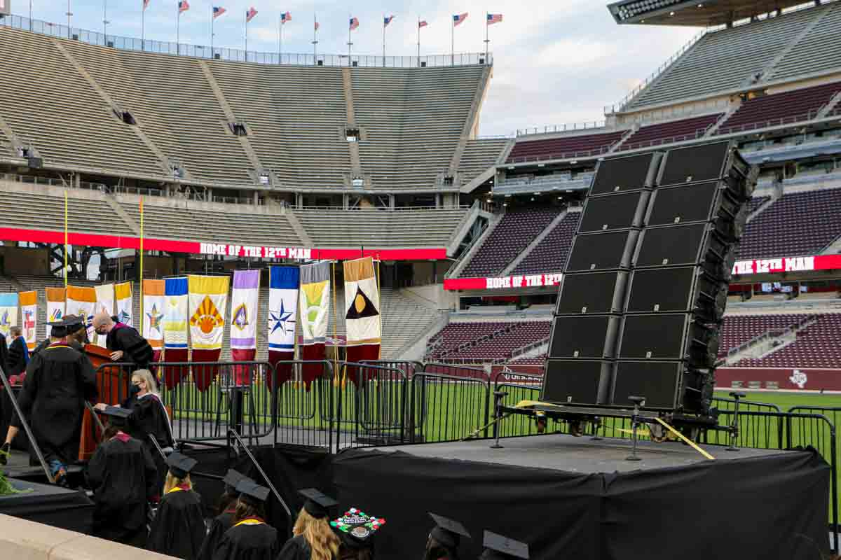L-Acoustics K2 line array deployed at Kyle Field
